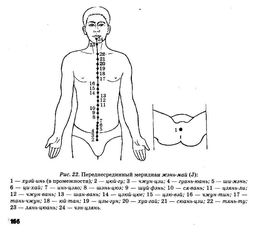 переднесрединный меридиан жень-май